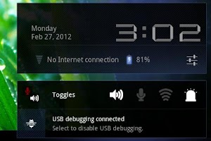 Screenshot of Toggles (LED flashlight etc)
