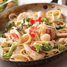 Shrimp and Broccoli Fettuccine