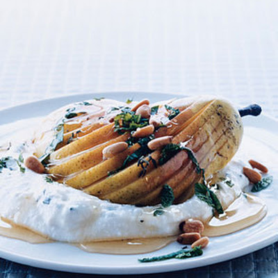 Pears with Herbed Ricotta and Honey