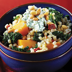 Barley Risotto with Roasted Butternut Squash & Kale