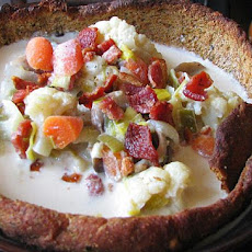 Bacon, Blue Cheese, Cauliflower Chowder
