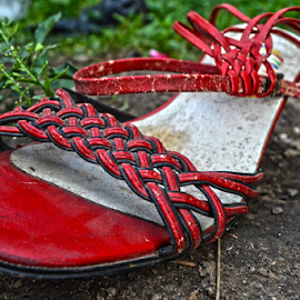 Little red... by Mario Denić - Artistic Objects Clothing & Accessories ( shoes, old, red, art, sandale, artistic, object )