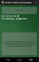 Screenshot of Roulette Predictor & Calc Pro