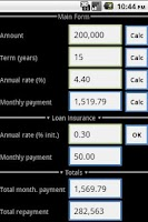 Screenshot of Loan Calculator