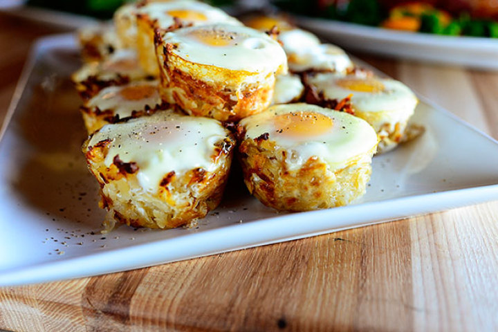 Eggs in Hash Brown Nests Recipe | Yummly