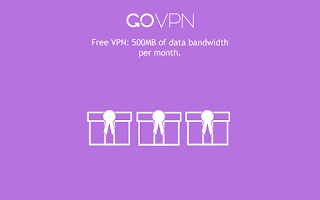 Screenshot of GoVPN free VPN for Android