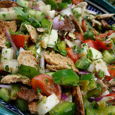 Middle Eastern Lebanese Fattoush Bread Salad