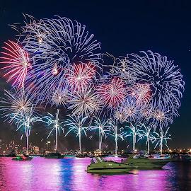 Celebration Australia day by Krissanapong Wongsawarng - Public Holidays New Year's Eve ( perth, australia, celebration )