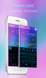 App TouchPal Neon Light Theme APK for Kindle