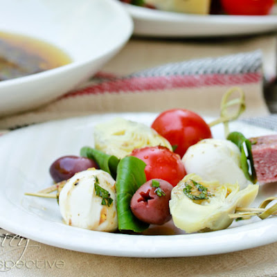 """Antipasto Platter"" Skewer Recipe with Herb Vinaigrette"