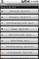 Screenshot of Pagan Calendar