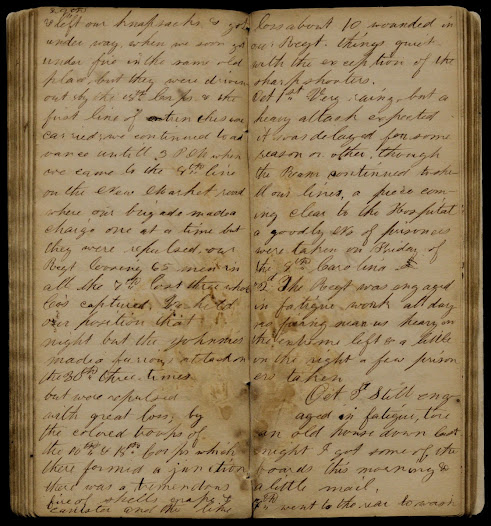 William Woodlin, an African American soldier, kept a diary from December of 1863 to October of 1864. In his diary, Woodlin discusses camp life, his role in the regimental band, and the famous 54th Massachusetts Regiment.