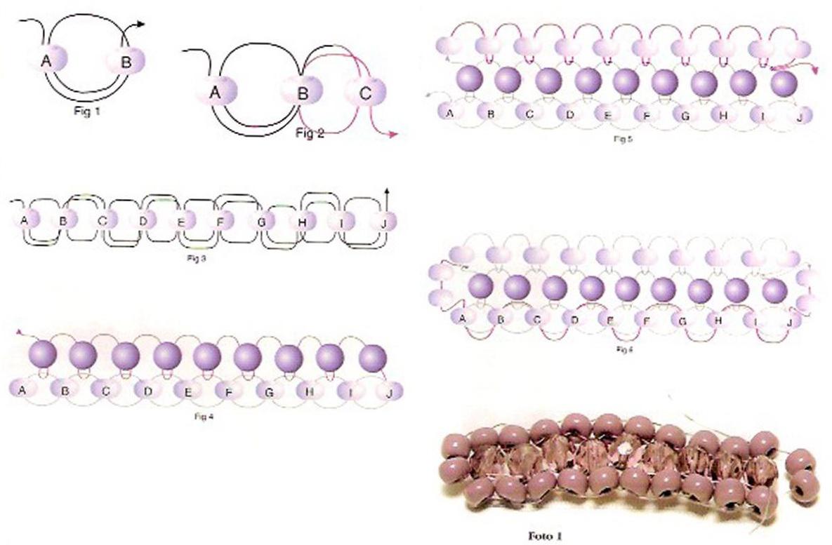 Как сделать браслеты из бисера по схеме