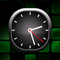 Green Bold Analog Clock icon