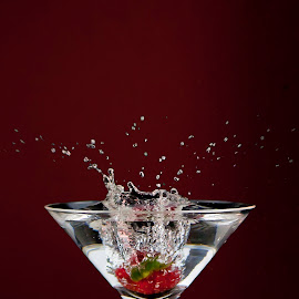 S1 by Dietmar Kuhn - Abstract Water Drops & Splashes ( clear, water, abstract, cocktail glass, splash, martini, cocktail, glass, shutterholic, strawberry )