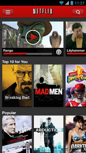 netflix for android screenshot