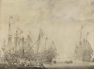 RIJKS: Willem van de Velde (I): painting 1672