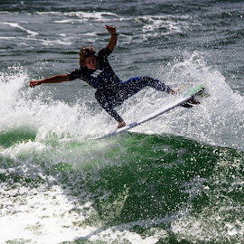 Surfs Up by James Culbreth - Sports & Fitness Surfing ( surfer, waves, ocean, beach, panama city )