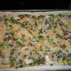 Sausage and Veggie Breakfast Pizza
