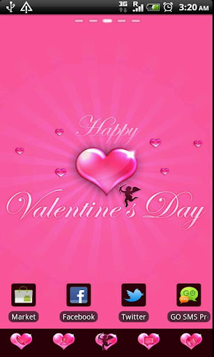 GO Launcher EX Valentine's Day