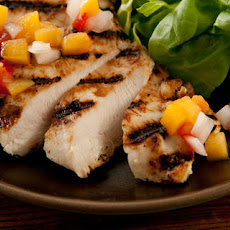 Buttermilk Chicken with Peach-Tomato Salsa