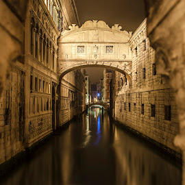 Venice by Pater Sorin - Buildings & Architecture Other Exteriors ( venice, long exposure, night, bridge )