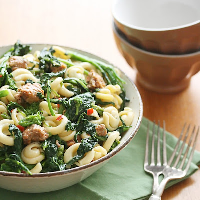 Spicy Sausage and Rapini Pasta