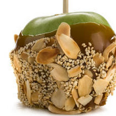 Marzipan Caramel Apples with Sesame and Almond Recipe