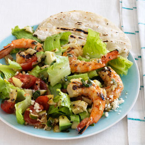 Grilled California-Style Chopped Salad With Shrimp Recipes ...