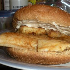 Pan Fried Tilapia Sandwich