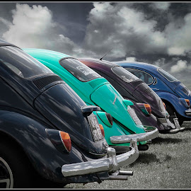 bugz buttz by Stephen Carr - Transportation Automobiles ( clouds, vw, sky, green, beetle )
