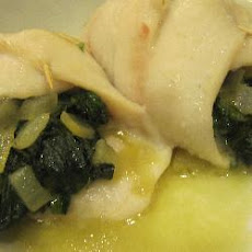 Spinach and Dover Sole Rolls
