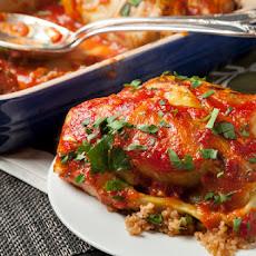 Stuffed Cabbage with Sweet-and-Sour Tomato Sauce