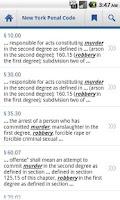 Screenshot of New York Penal Code