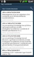 Screenshot of Lovtidende App