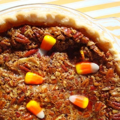 Candy Corn Pecan Pie