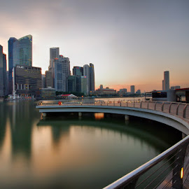 MBS Boardwalk by Ken Goh - City,  Street & Park  Street Scenes