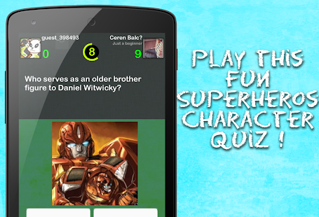 Superheros Quiz - screenshot