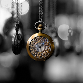 Gousset by Dimitri Foucault - Artistic Objects Jewelry ( selective color, london, watch, 50mm, gousset, pwc )
