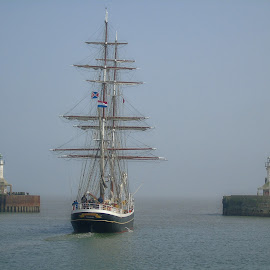 out to sea by Chrissy Woodhouse - Transportation Boats ( old, sailing, tall ship, sailing ship,  )