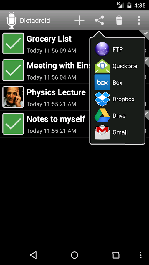 Dictadroid Voice Recorder Screenshot 1