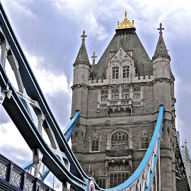 Tower Bridge by Steven Aicinena - Buildings & Architecture Bridges & Suspended Structures ( england, london, tower bridge )