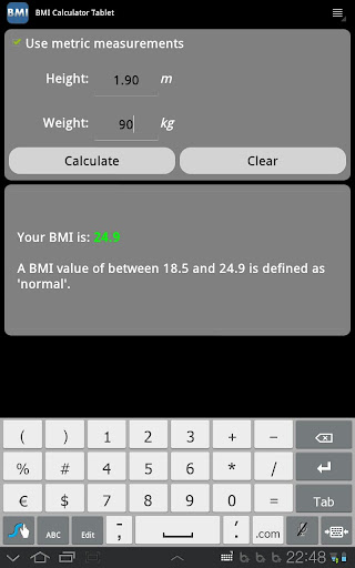 玩健康App|BMI Calculator (Tablet)免費|APP試玩