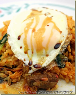 kimchee fried rice with easy over egg and kecap manis 2