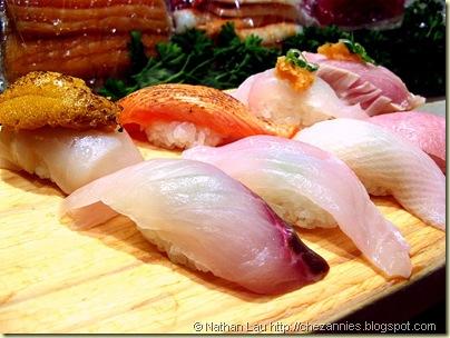 Akane Sushi nigiri plate