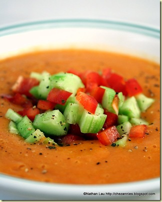 Lazy Heirloom Tomato Gazpacho | House of Annie
