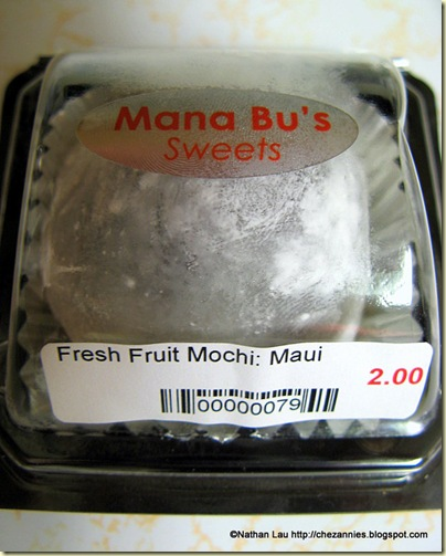 Mana Bu's fresh whole strawberry mochi