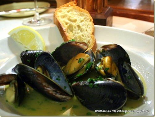 Steamed Mussels with Garlic, Parsley, and Wild Fennel @ Chez Panisse