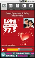 Screenshot of Love Radio