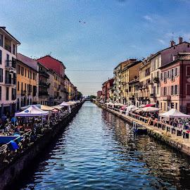 by Kevin Spagnolo - Instagram & Mobile iPhone ( milan, milano, navigli, hdr, summer, estate, mercato, market )